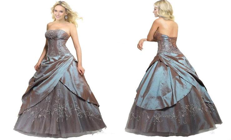 Floor-Length Fuchsia Taffeta Cheap Quinceanera Dress with Zipper Back and Sequins