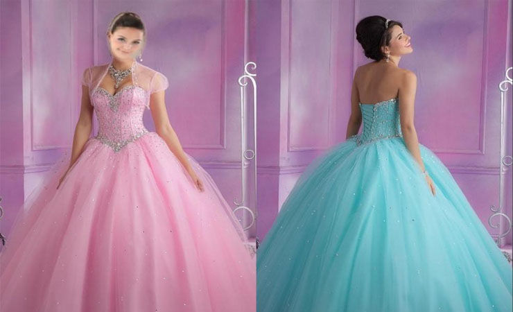 Multicolor-beaded Sweetheart Layered Tulle Cheap Quinceanera Dress with Bolero