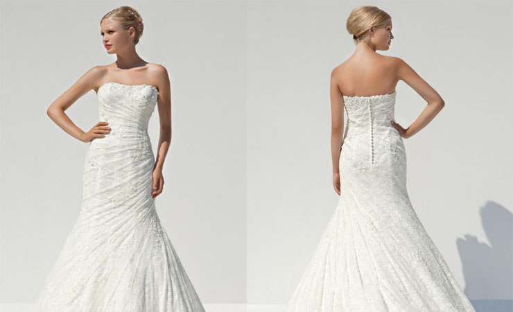 Delicately Tinted Sleeveless Bateau Neckline Ball Gown Wedding Dress