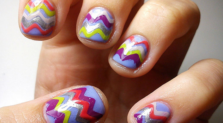 4 Color Chevron Nails