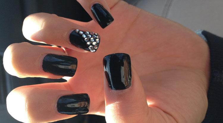 Black with Rhinestone