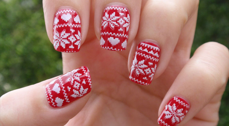 Funky Red Pattern