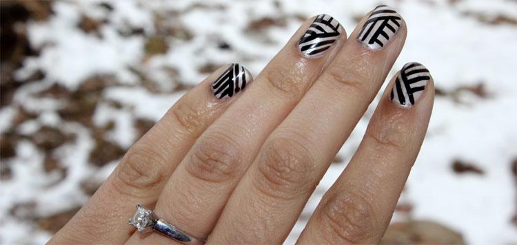 Weaving Line Nail Art