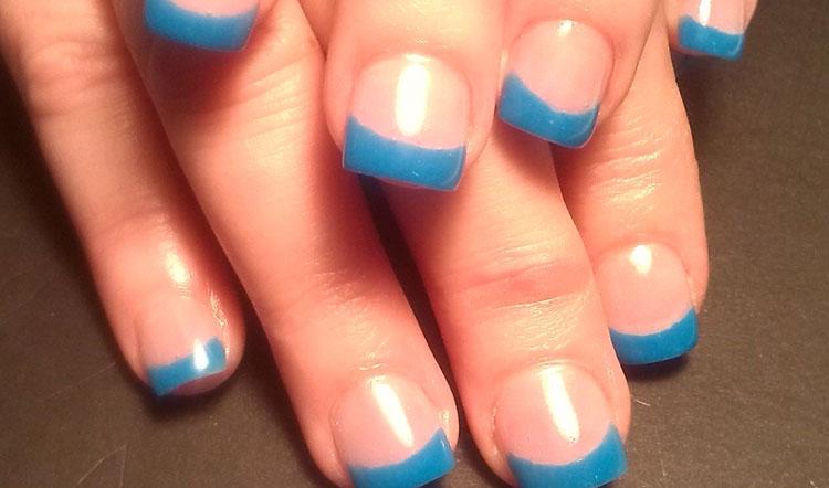 Blue Springy Nails
