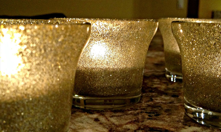 Glitter Tea Lights