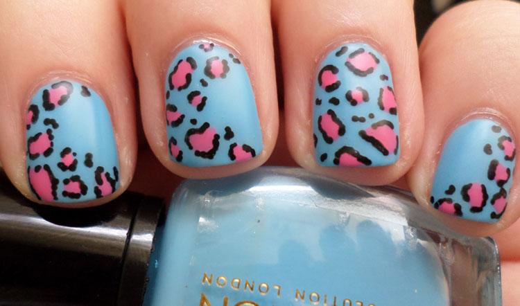 Light Blue Leopard Style