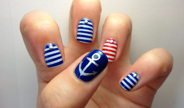 Nautical Nail Strips