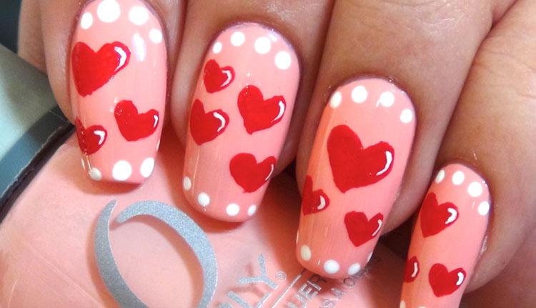 Polka Dots With Tiny Hearts