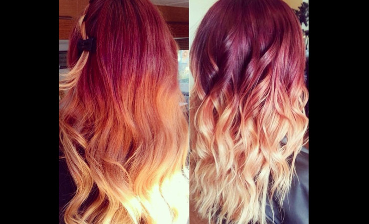 bright-red-to-blond-ombre-hair