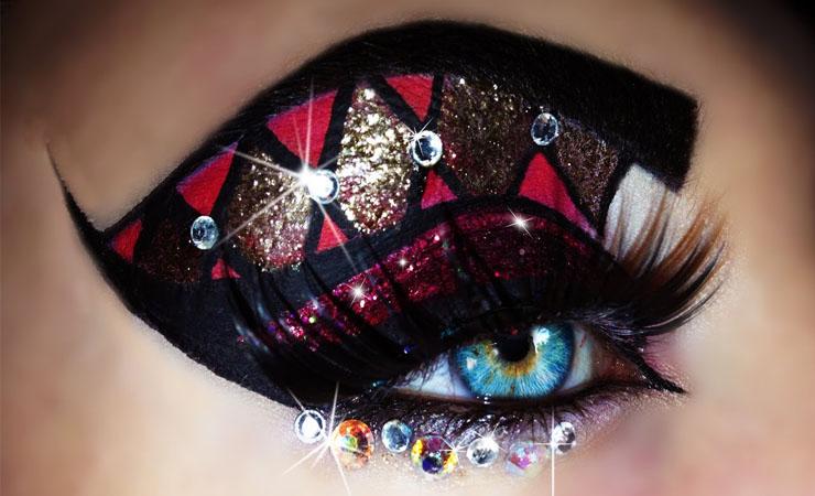 carnival-eye-makeup-wiht-stars