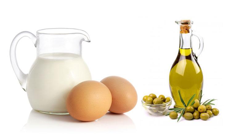 egg-milk-and-olive-oil-hair-mask