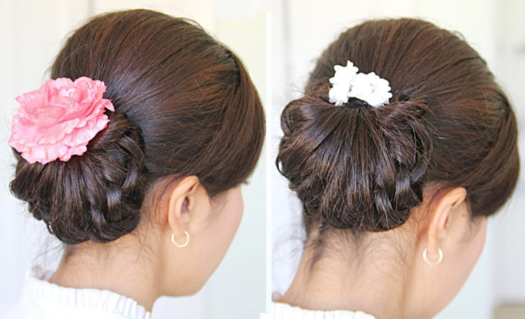 knotted-buns-hairdo