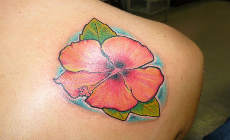 coloured-flower-tattoo-for-women