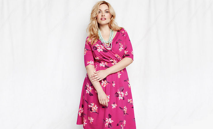 womens-elbow-sleeve-pattern-cotton-modal-fit-and-flare-dress
