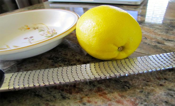 Bite into a lemon