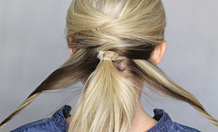 CRISS-CROSS PONYTAIL
