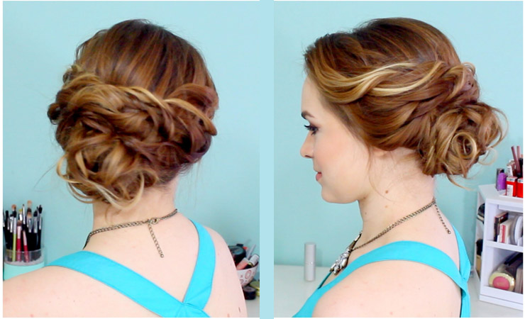 side-chignon-for-prom-hairstyle