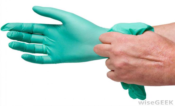 using gloves