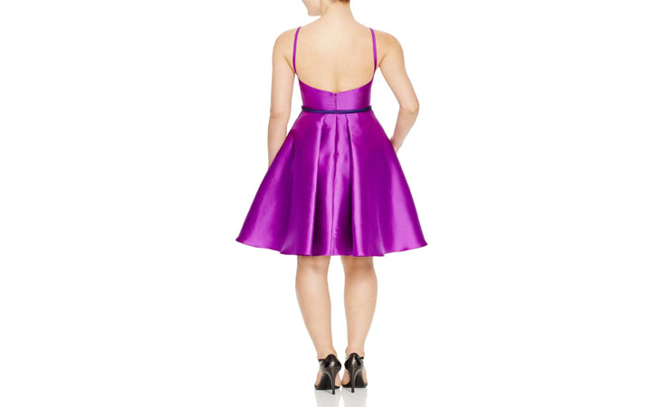 A Fit-and-Flare, Sequin A-Line Purple Quinceanera Dress