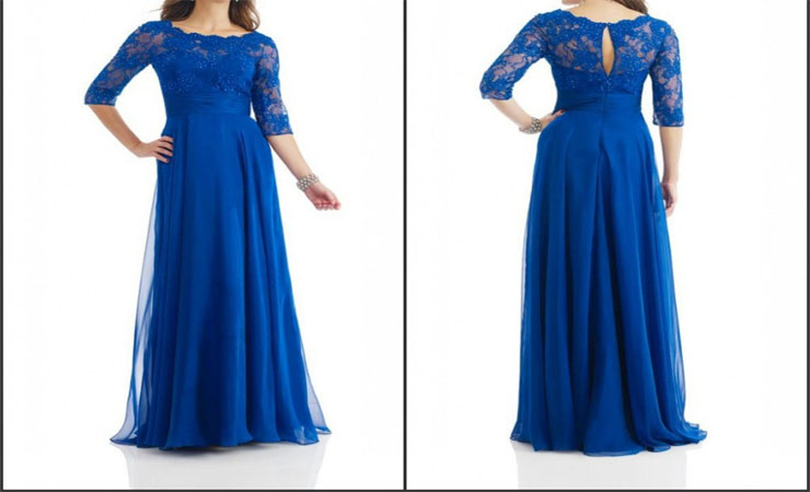 A-line Blue Quinceanera Dress with Beaded Lace Detail