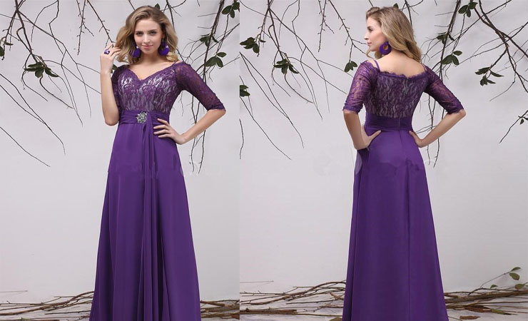 A True A-Line Purple Quinceanera Dress