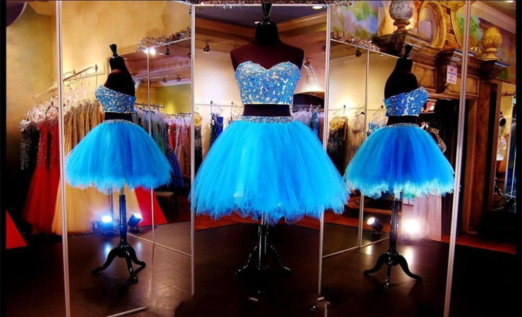 Admirable Sweetheart Beaded Puffy Blue Quinceanera Dress