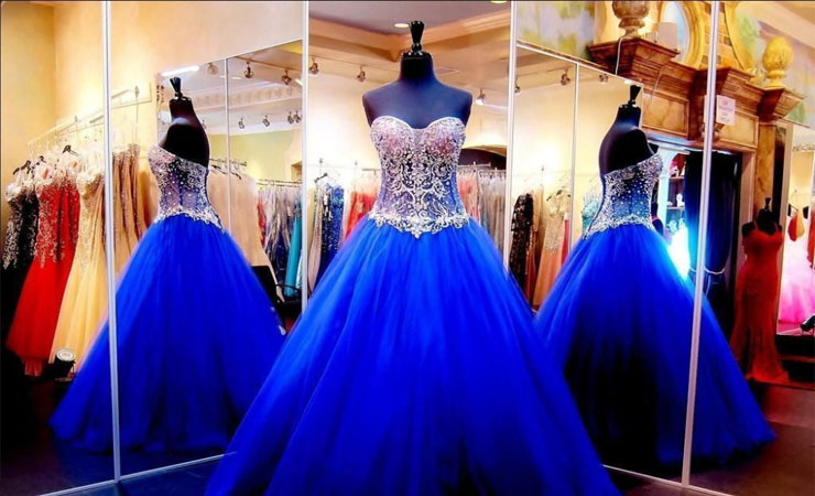 Beaded Embroidered Sweetheart Light Blue Quinceanera Dress