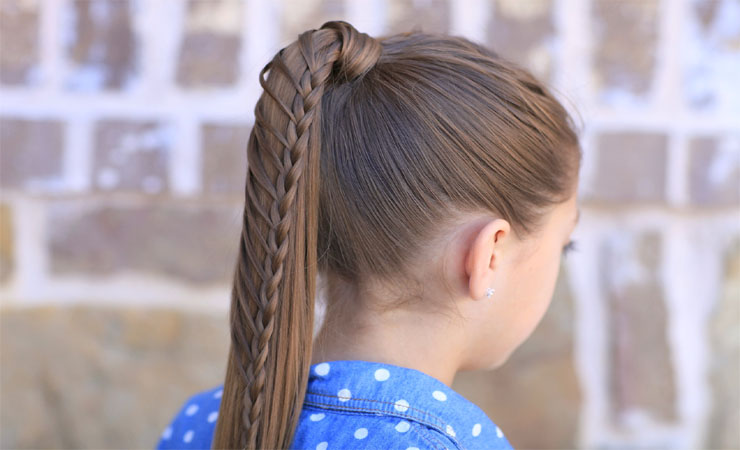 Braided Ponytail Updo for Long Hair
