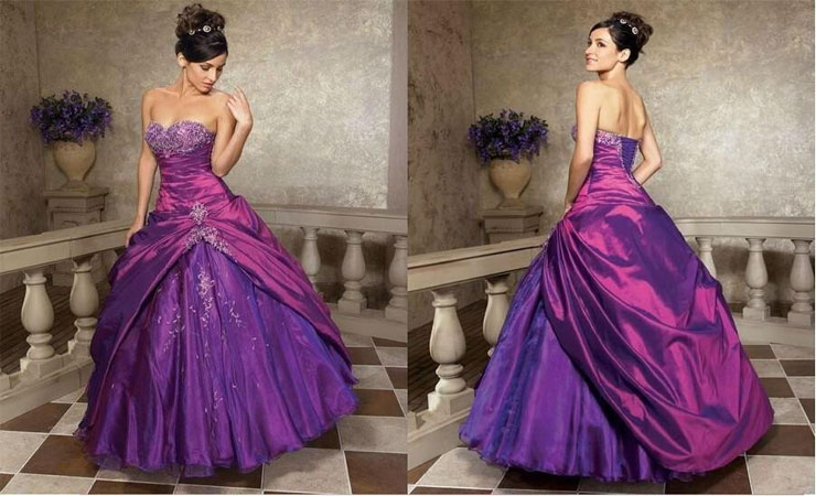 Cheap Taffeta Quinceanera Dress with Beaded Adornment and Crystal Detail