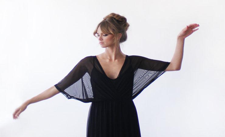 Dolman Sleeves Maternity Cocktail Dress in Velvet