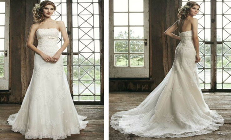 Dreamy Elegance Full-length A-line Lace Mermaid Wedding Dress