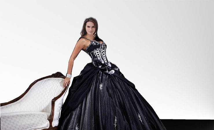 Gemmed Sweetheart Quinceanera Dress with Boned Sequined Top and Pleats