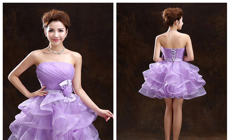 Glittering Fairytale Twinkling Purple Quinceanera Dress