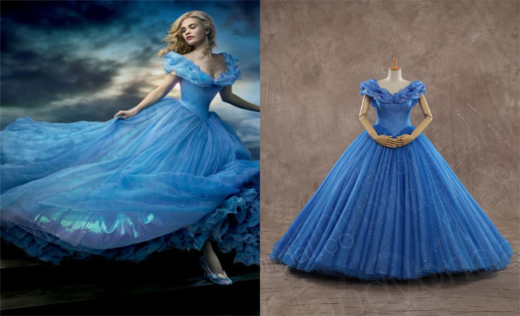 Glorious Strapless Blue Quinceanera Dress with Floral Appliqués