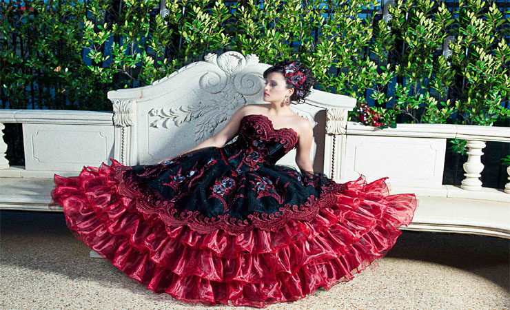 Grand Glam Beaded Soft-ruched Ruffled Tulle Cheap Quinceanera Dress