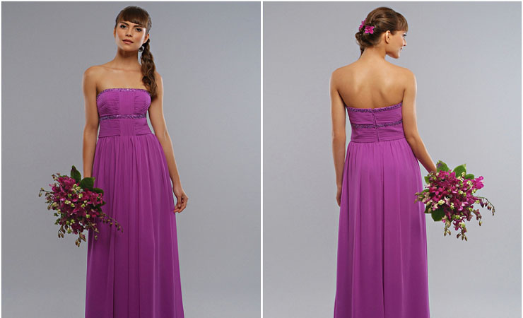 Ombre-Colored Sequin Studded Purple Quinceanera Dress