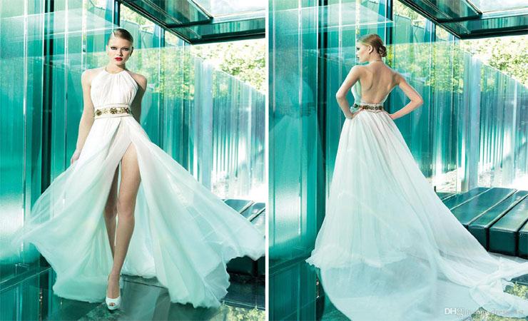 Organza Plus Size Wedding Dress with Ruffled Hemline