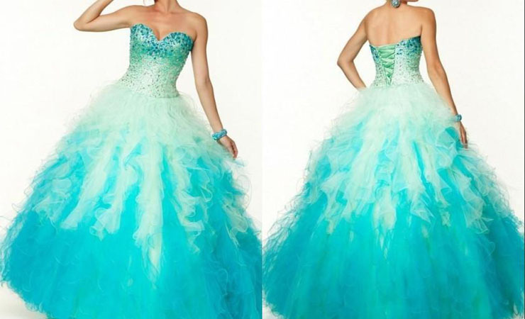 Organza Satin Sweetheart Cheap Quinceanera Dress with Lace-up Back