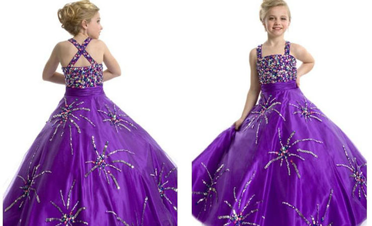 Purple Quinceanera Dress with Cinched Waist and Corset Style Back