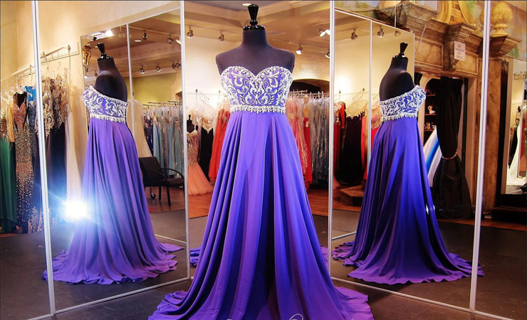 Ravishing A-Line Purple Quinceanera Dress with Illusion Top