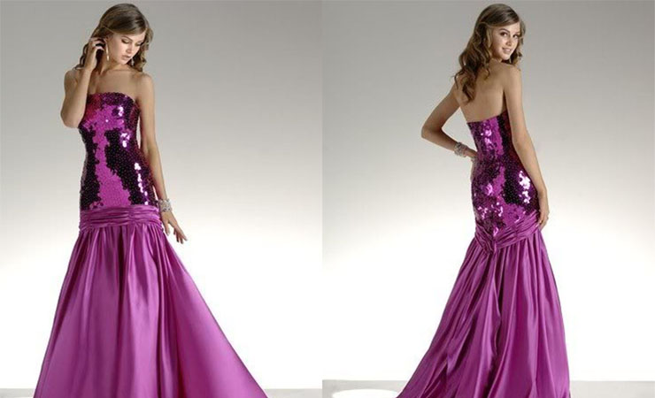 Resplendent Lace Ruffled Purple Quinceanera Dress