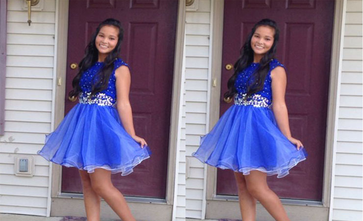 Short Spaghetti Strap Ruching Blue Quinceanera Dress