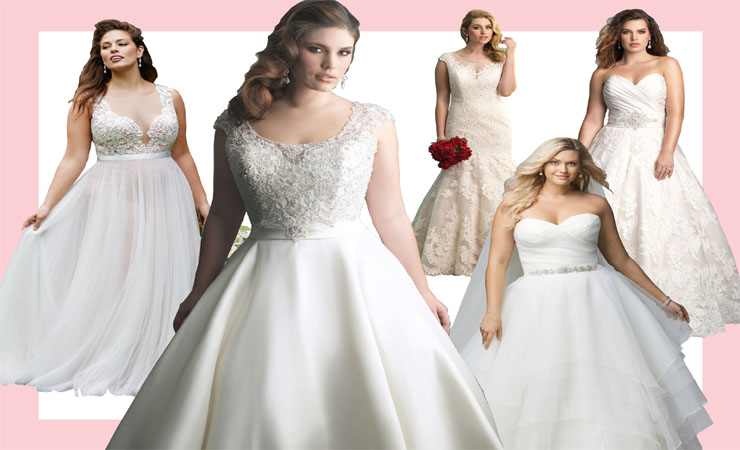Strapless Crystal Beaded Tulle Fit and Flare Plus Size Wedding Dress