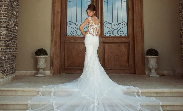 Strapless Lace Structured Bodice Mermaid Wedding Dress