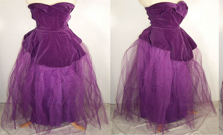 Strapless Purple Quinceanera Dress with Lace Appliqué