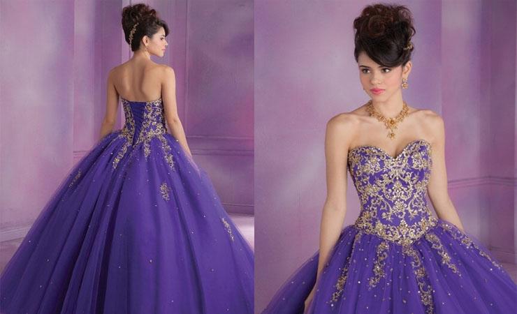 Sweetheart Neckline Floor-Length Quinceanera Dress with Back Ruffles