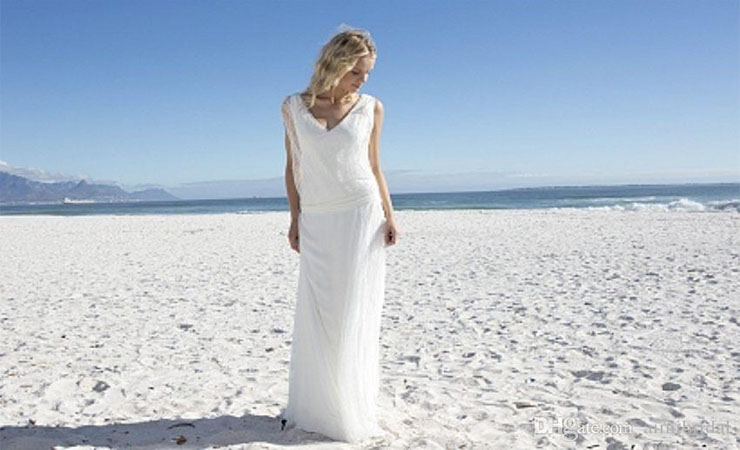 Taffeta A-line V-neck Zipper Back Plus Size Wedding Dress with Ribbon