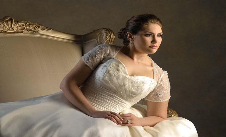 Taffeta Sweetheart Tiers Court Train Plus Size Wedding Dress