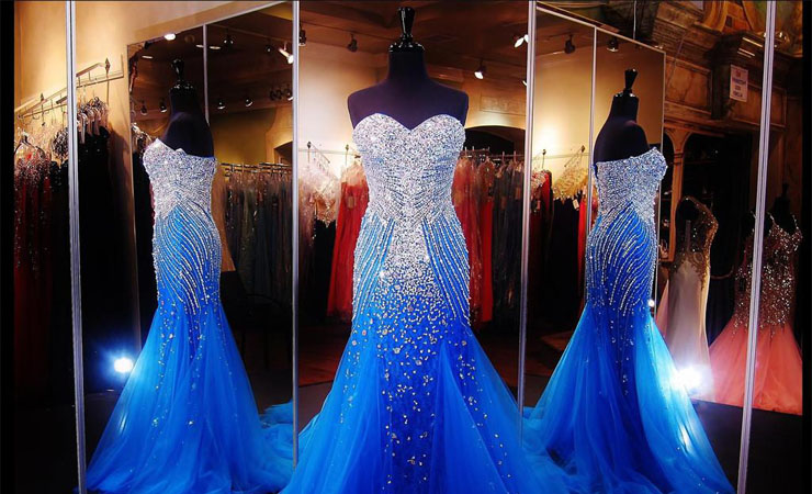Tulle Sweetheart Blue Quinceanera Dress with Appliqués and Beading