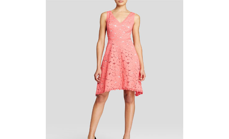 Cap Sleeve Knee Length ruched Pink Homecoming Dress
